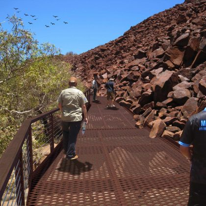 Boardwalk set to improve viewing of Murujuga rock art