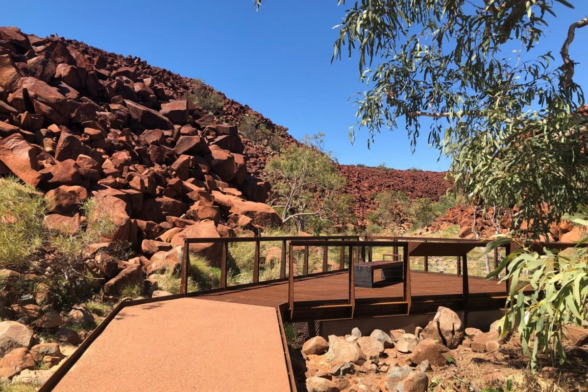 Ngajarli rock art viewing boardwalk officially reopened and Tentative World Heritage List celebrated